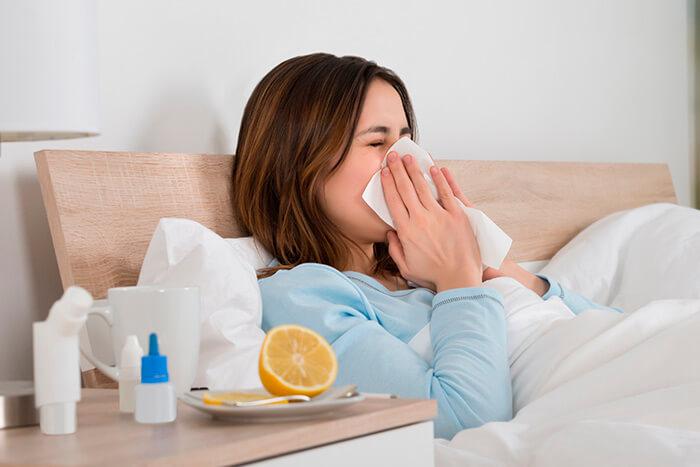 La limpieza para combatir el resfriado